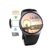 2017 alibaba wholesale KW18 Smart Watch Heart Rate Monitor Health Sim Card Smartwatch Wearable for IOS android Phones