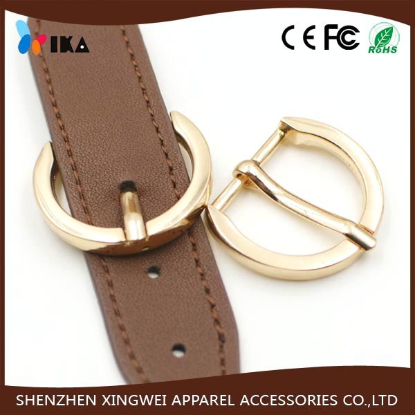 small light gold zinc alloy pin metal shoe buckle