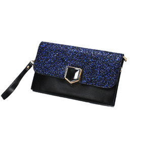 Womens Formal Clutch Evening Purse Rhinestone Handbag with Wristlet Shoulder Chain Envelope Clutch Bag