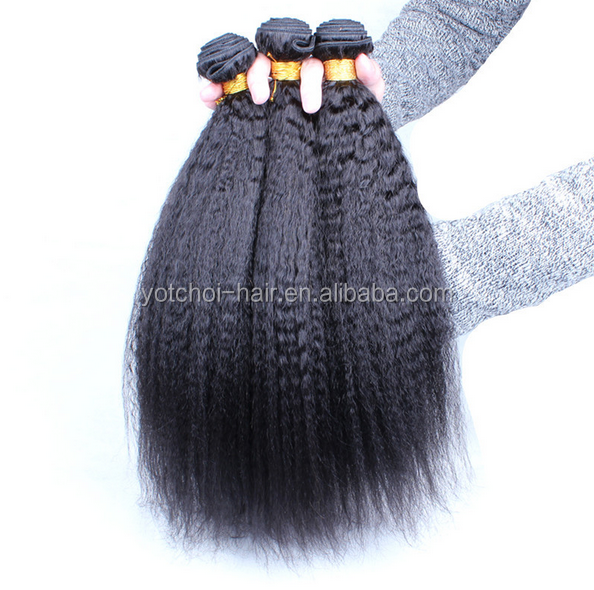 Double Weft Brazilian Human Hair Kinky Straight African Beads For Hair
