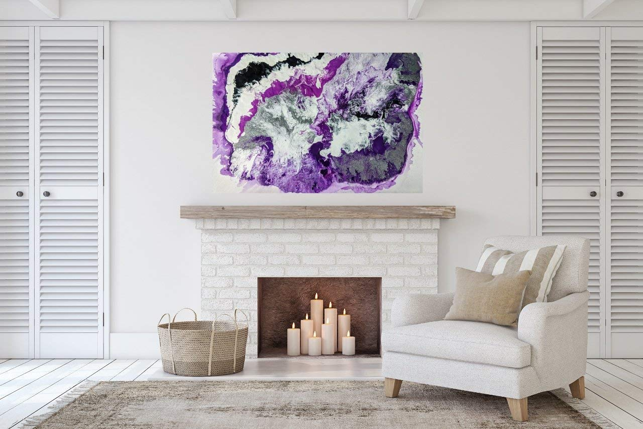 Abstract Painting, Purple Painting, Purple Abstract Painting, Purple Art, Abstract Art, Pour Painting, Purple, Modern Art, Modern Painting