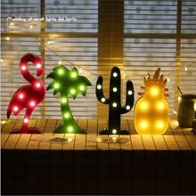 LED Night Light Lamp Kids Marquee Letter Lights Unicorn Shape Signs Light Up Christmas Party Wall Decoration