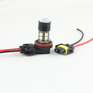 H8 H11 Female Adapter Wiring Harness Socket Car Auto Bulb Wire Connector Cable Plug for HID LED Headlight Fog Light Lamp