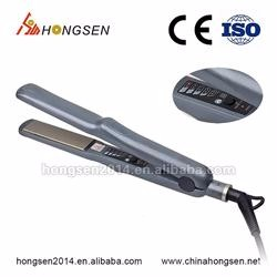 2017 New Invention OEM Private Label Hair Brush Straightener 2 in 1 Anion LED Electric Fast Hair Straightener Comb