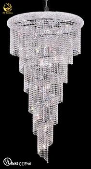 hanging modern chrome crystal pendant lighting