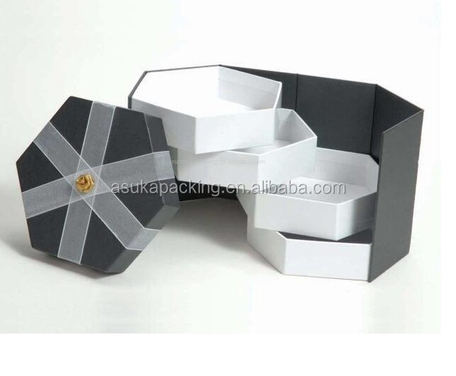 Bespoke Three layers box package paperboard jewelry three layer box