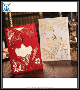 yiwu new products ribbon wedding congratulation invation card & Free sample wedding card & wholesale New
