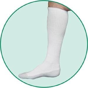 705e83fd44 Get Quotations · Juzo 5760AD10 L 5760 OTC Silver Sole Unisex Knee High Socks  12-16mmHg - -