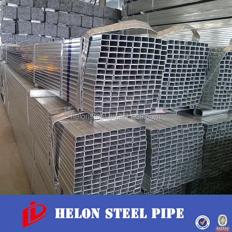 Hot dipped galvanized steel square/rectangule pipe galvanised 25*40mm rectangular pipe