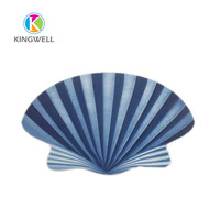 New design beautiful lovely creative design shell shape dinnerware plate for kids