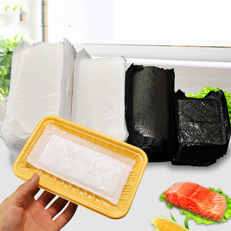 Customized Size Fabric Material Disposable Absorbent Meat Soaker absorbent Pad For Food Packing