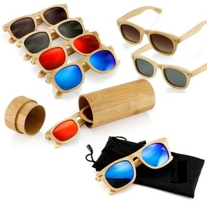 polarized sunglasses Men sunglasses 2019 Custom logo Polarized Bamboo wooden Sunglasses