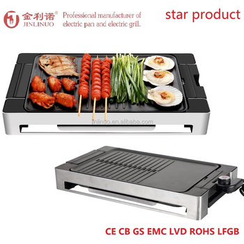 Smokeless Indoor Electric Barbeque Grill And Electric Griddle - Buy ...