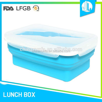 China market latest design silicone lunch box