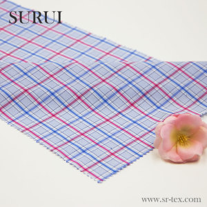 50% bamboo 50% cotton yarn dyed plaid shirting fabric