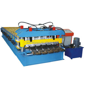 high safety level glazed tile roofing sheet roll forming machine Color Coated Roof Sheet Forming Machine
