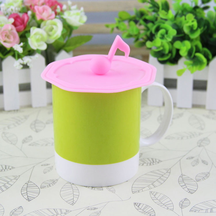 Popular musical note-shaped Silicone Rubber Coffee Cup Lid/cover Glass Bottle Cover