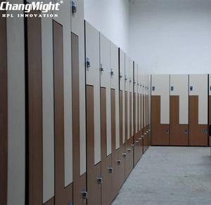 compact laminate gym locker, hpl lockers and benches