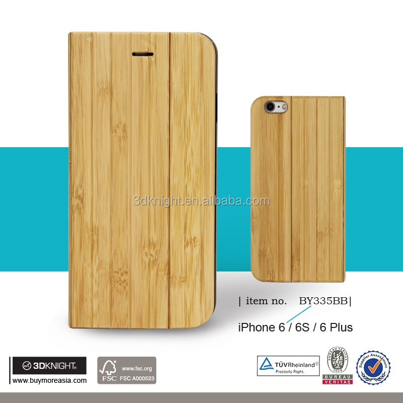 3D Knight Unique Design Full Wood Bamboo Phone Case Flip for iPhone6,OEM Factory Wholesale Hand-made Real Bamboo Wood Phone Case