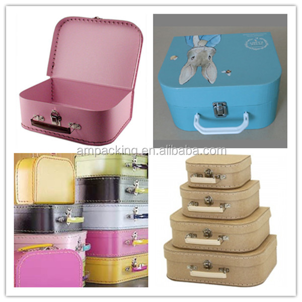 Dongguan Factory High Quality Storage Box Children Paper Suitcase ...