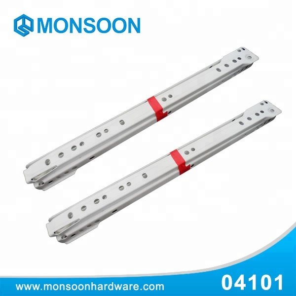 Hot sale roller guides powder coated drawer slides white for furniture