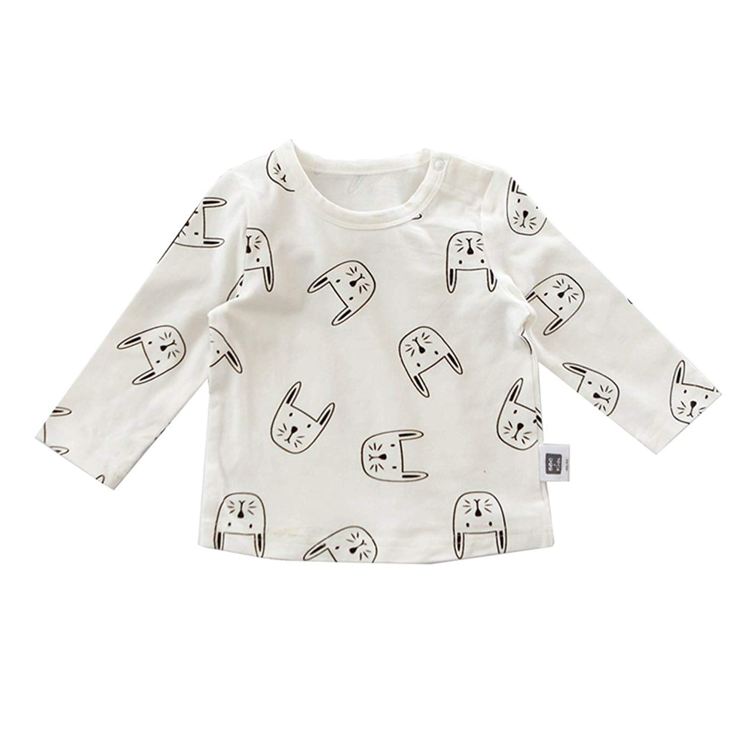 Baby Suits Cartoon Rabbit Pattern Long Sleeve Cotton Clothes