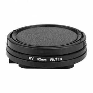 Hot Sale SHOOT FOR GoPro Camera Accessories 52mm UV Filter with Lens Cover and Adapter for GoPro Hero 7 6 5 Black