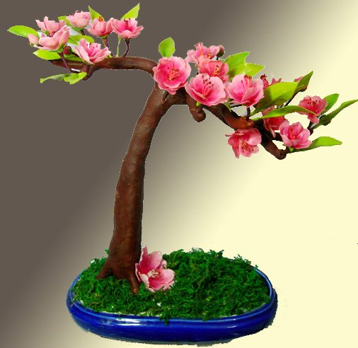 clay flowerhome decoration artificial flower buy clay bonsai product on alibabacom
