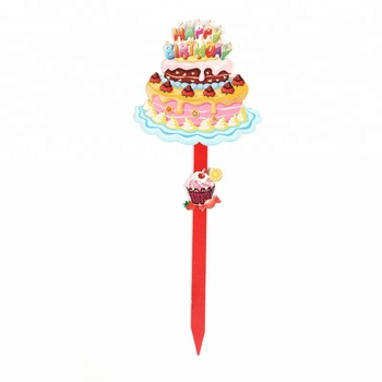 Awesome Birthday Cake Candle Happy Birthday Holiday Decoration Yard Sign Funny Birthday Cards Online Overcheapnameinfo