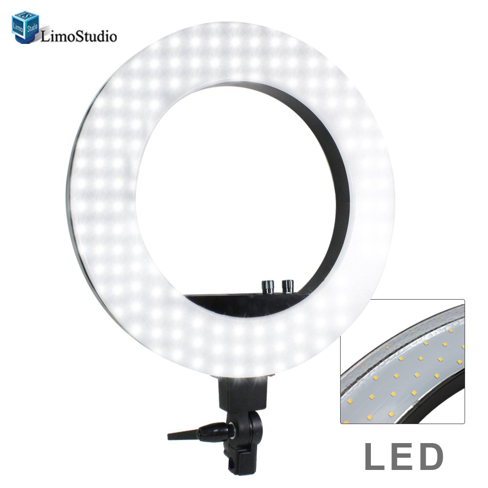 "LimoStudio LED 18"" Ring Flash Light Dimmable SMD LED Lighting with Carrying Case, AGG302V2"