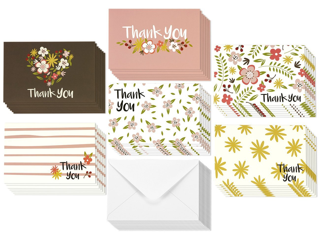 Cheap blank greeting cards find blank greeting cards deals on line get quotations thank you note cards for her bulk box set blank on the inside kristyandbryce Image collections