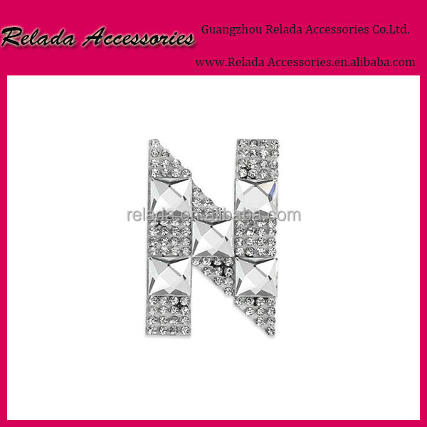 Wholesale factory custom-made Name brand Letter N patches for bridal and groom