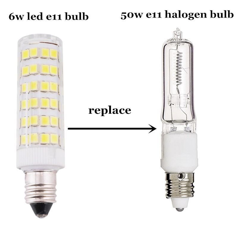 6w Dimmable Mini Candelabra Edison Screw Base E11 Led Light