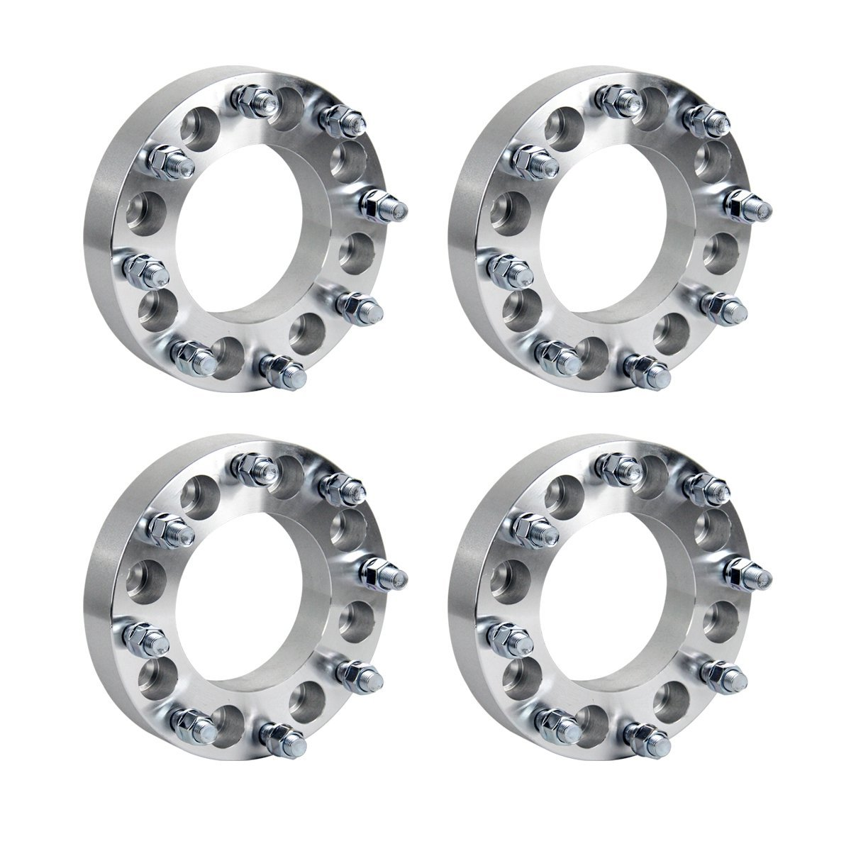 "GESS 4pcs 1.5"" 8x165.1 to 8x180 Wheel Adapters Chevy Silverado GMC Sierra Yukon Huer H1 H2 Spacers 14x1.5 (Arrive whithin 3-7 business days)"