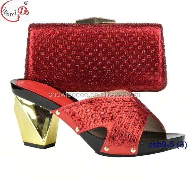 shoes white crystal bag and shinning style shoes 2018 material African wedding pH8q8