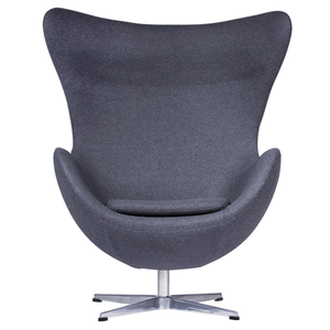 high quality cheap swivel leather fiberglass dining leisure egg chair