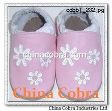 2016 new year CHRISTMAS DESIGN XIAMEN COBRA top quality best seller 100% genuine leather soft sole baby shoes fashion design