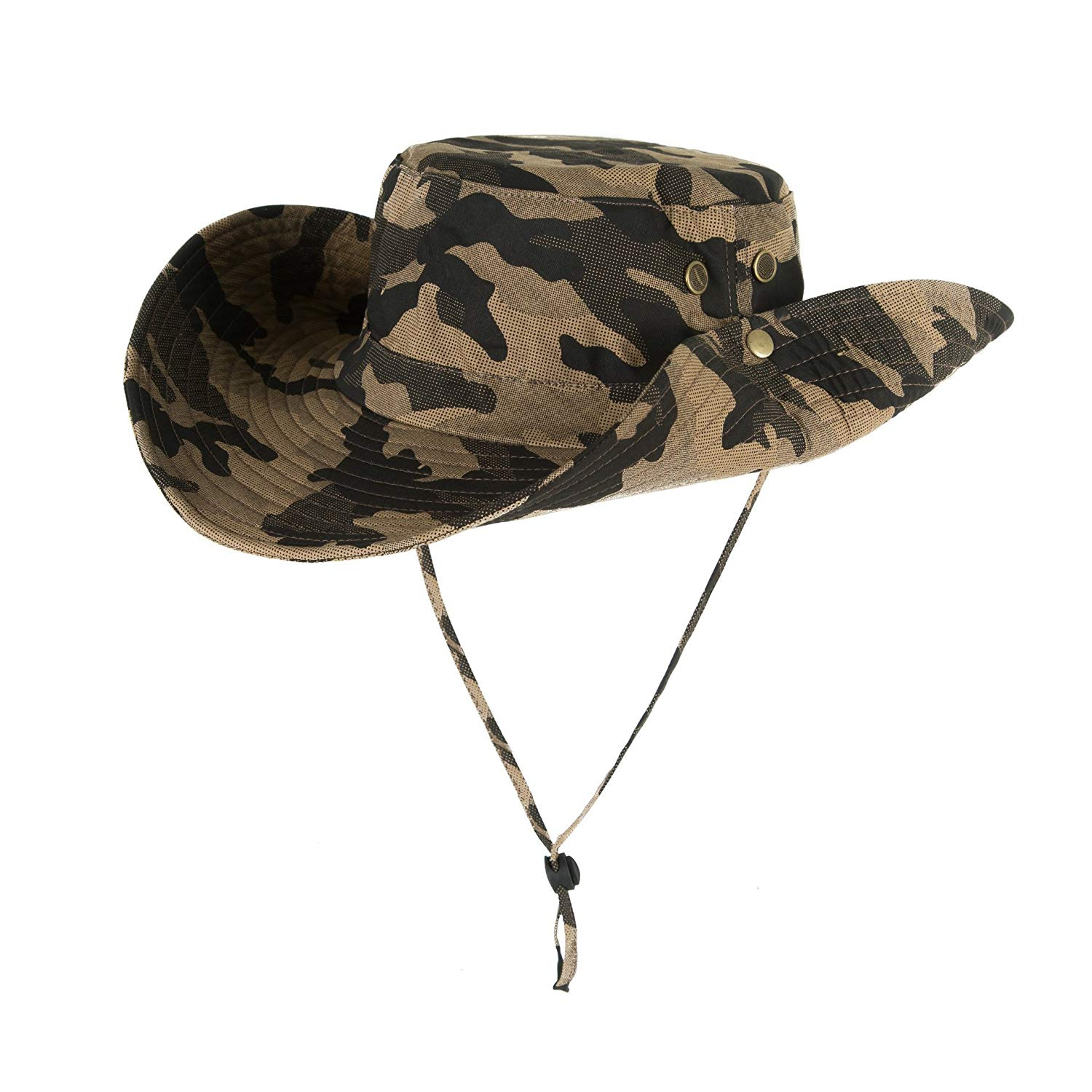 2fc7611ebda Get Quotations · Boonie Safari Sun Hat for Men   Women - UPF 50 Sun  Protection - Wide Brim