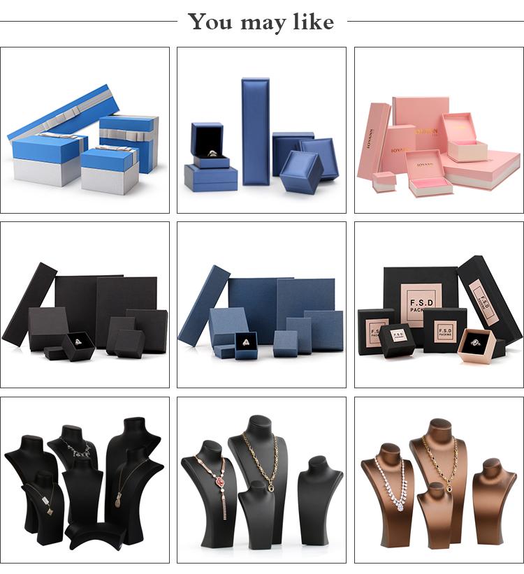 कस्टम लोगो डिजाइन कागज गत्ता कान की बाली आभूषण के लिए पैकेजिंग बॉक्स गहने