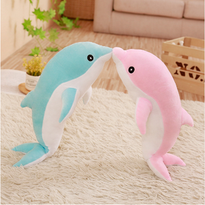 Cute soft dolphin plush toy marine animals Stuffed Toys Children's Toys Sofa Pillow Cushion Home Decor Gift