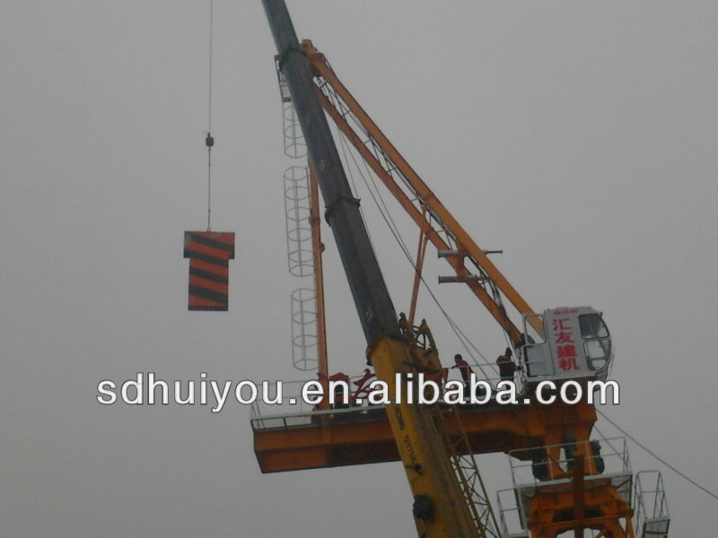 New installation D125 Luffing Tower Crane