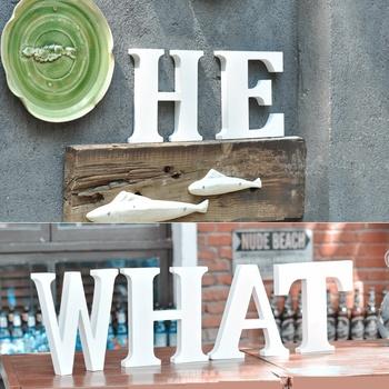 home shop decoration large decorative wooden letters 3d letter