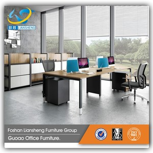 New design office partition system MFC board 4 people office desk partition NWGP-11