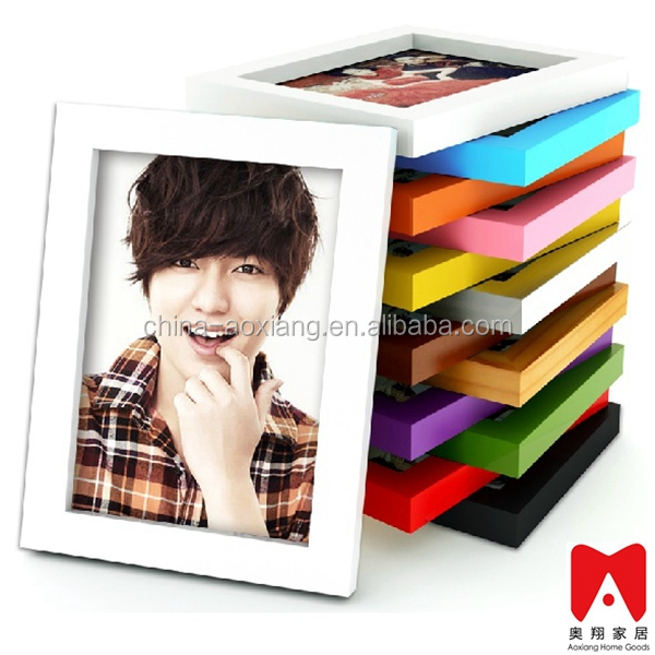 Colourful Plastic Picture Frame 4x6 5x7 6x8 8x10 glitter powder photo frame
