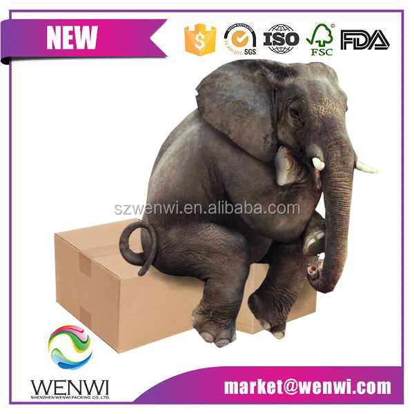 custom printed empty cardboard 5 layers strong corrugated box