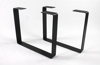 factory wholesale price powder coated iron square metal table legs for office desk - Furniture Legs Square