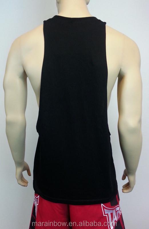 91bc7184 Men's Black Plain Muscle Workout Vest Gym Tank Top bodybuilding Fitness  Blank Deep Cut Off Beast