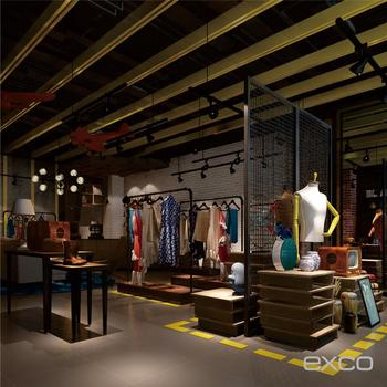 Chinese Designer Stock Cycling Used Clothes Store Interior