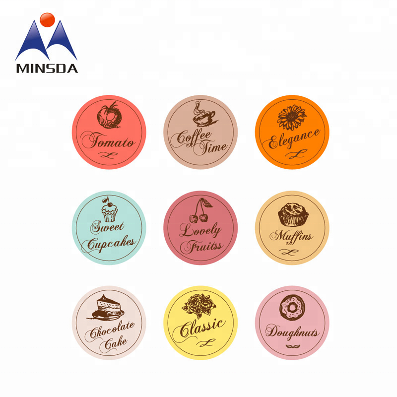 Private Custom Printing Wholesale Self Adhesive Round Label Stickers
