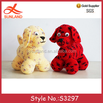 S3297 Hot Sale Knitted Toys Animal Dog Patterns Hand Crochet